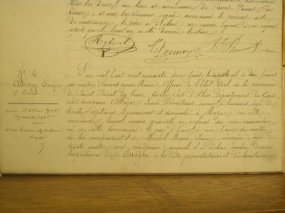 Acte de naissance d'Eugène Allègre - Source : AD 30, photos perso
