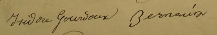 Signatures IsidoreGourdoux JeanBernouin
