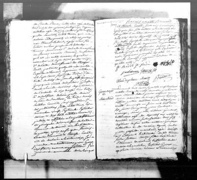 Acte de mariage d'Antoine Gourdoux et de Priscille Marchand, AM Nîmes, NMD, mariages (1807), vue 236/274 - Source : Brozer-Téléarchives