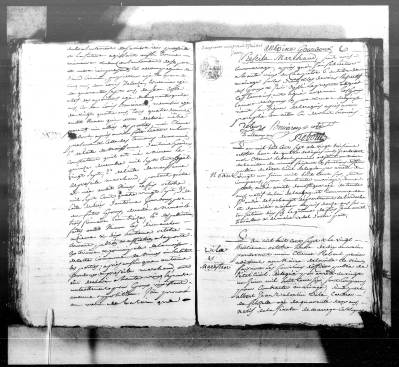 Acte de mariage d'Antoine Gourdoux et de Priscille Marchand, AM Nîmes, NMD, mariages (1807), vue 237/274 - Source : Brozer-Téléarchives