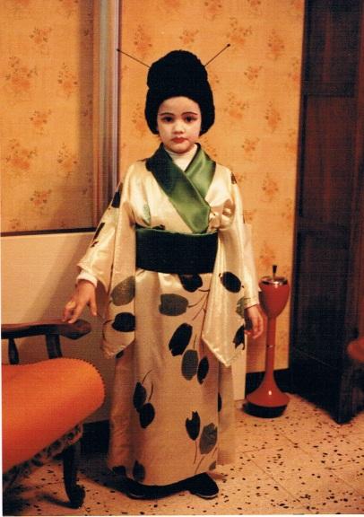 Costume de geisha, corso février 1983 - Source : papiers de famille