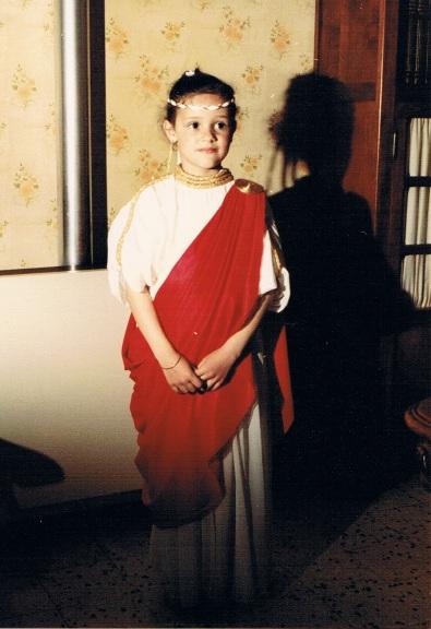 Costume de romaine, corso mars 1983 - Source : papiers de famille