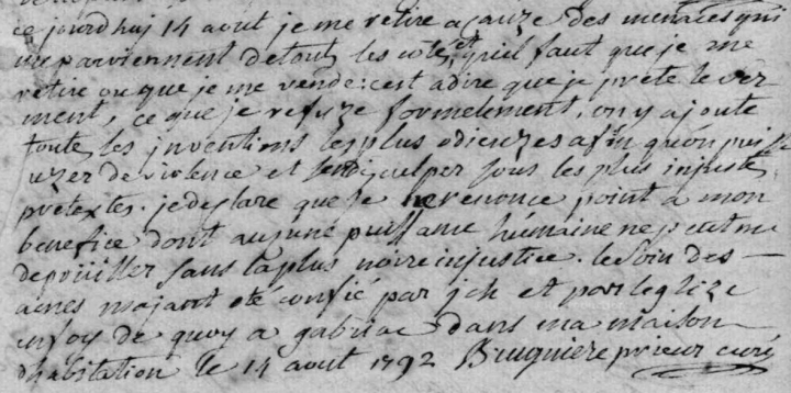 DŽclaration du curŽ de Gabriac (48)